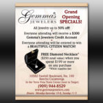 gemma jewelers flyer ad