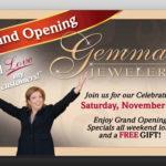 gemma jewelers postcard ad