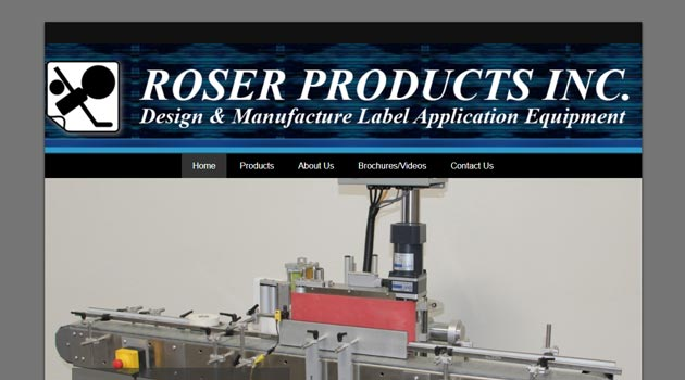 roser products site screenshot 630x350