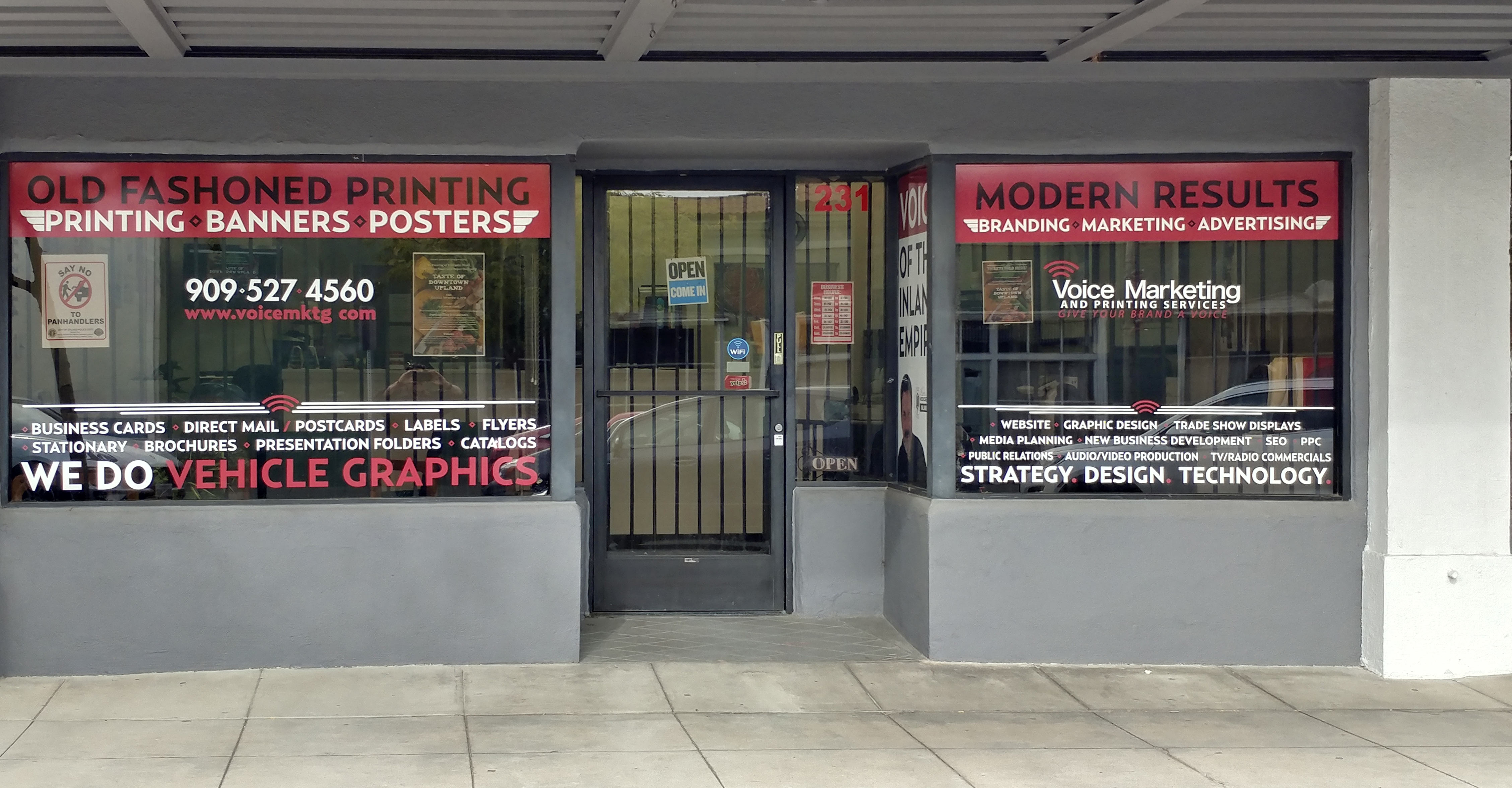 voice marketing store front