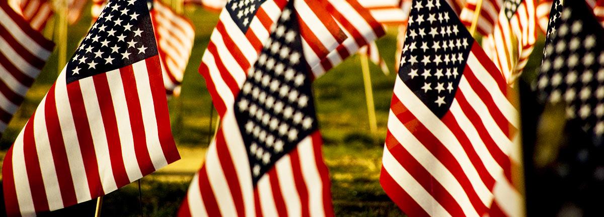 U.S. flags 1200x400